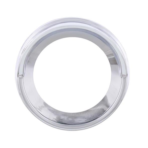 Kenworth Small Chrome Plastic Gauge Cover With Visor - Forward