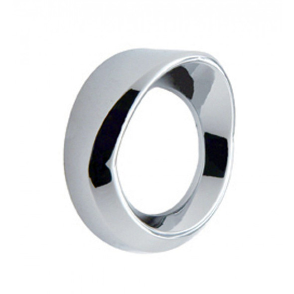 Small Chrome Gauge Cover With Visor
