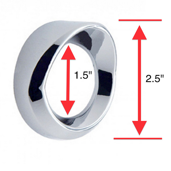 Small Chrome Gauge Cover With Visor Height Comparison
