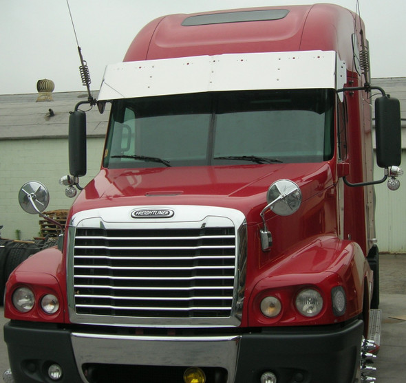 Freightliner Century 2005+ Chrome Grill With Bugscreen A17-16132-001 Installed