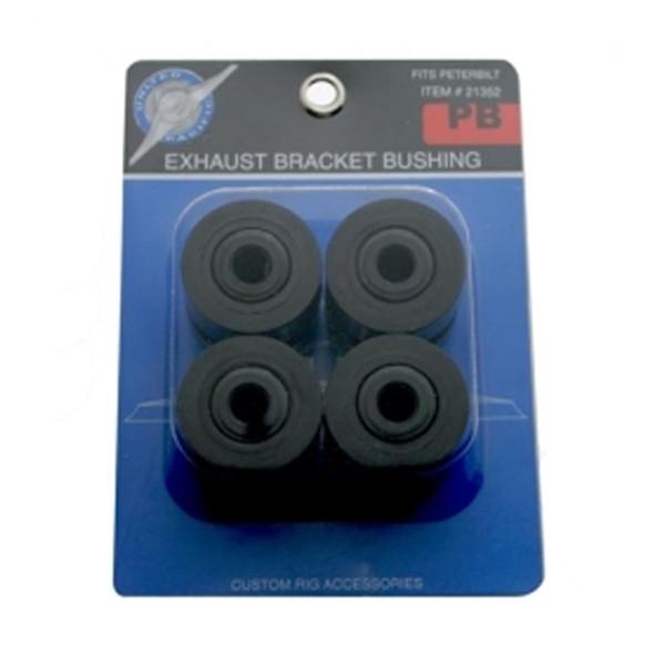 Peterbilt Exhaust Bracket Bushings 4 Pack Black