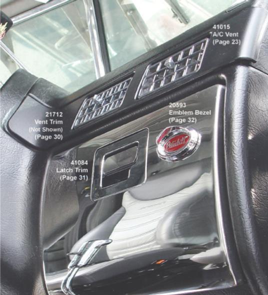 Peterbilt 2001 - 2005 Chrome Plastic A/C Vent Mounted Angle