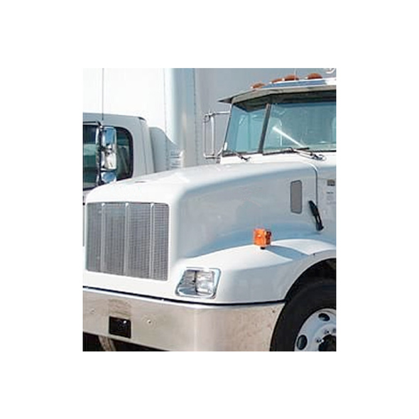 Peterbilt 330 Stainless Steel Grill Replacement Mounted