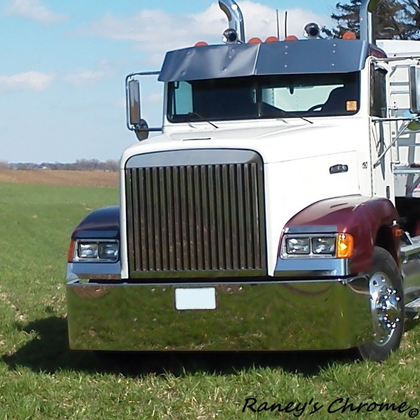 Freightliner FLD 120 Classic Grill Stainless Steel Vertical Bars Side