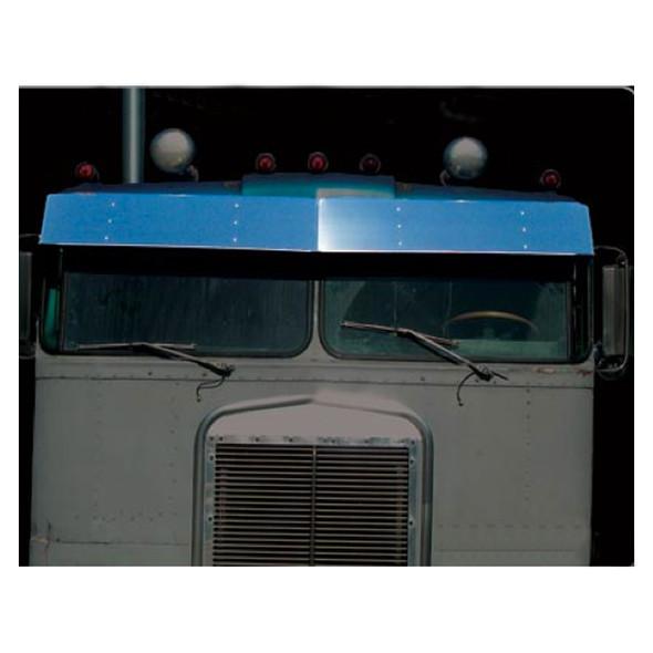 "Kenworth K100A 13"" Visor Stainless Steel Drop Style"