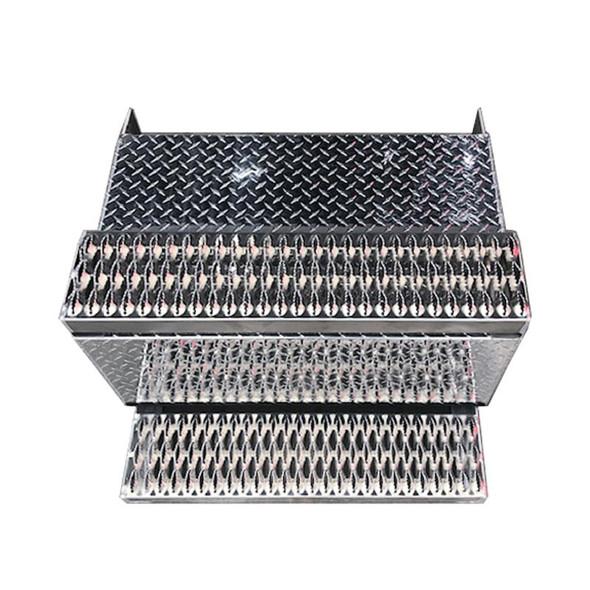 Peterbilt 379 388 389 Aluminum Diamond Plate Battery Box- Top View