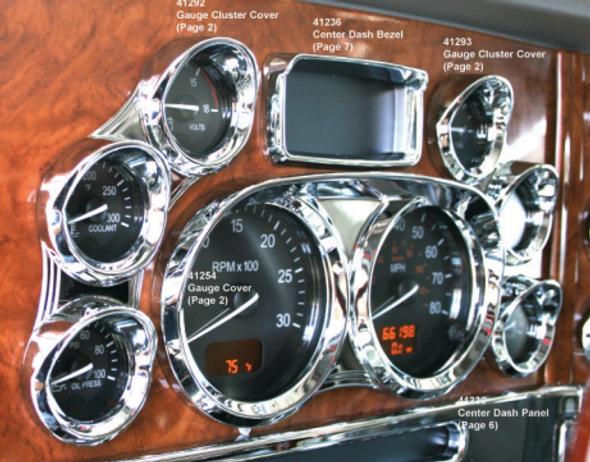Peterbilt 2006+ Center Instrument Dash Bezel Visor
