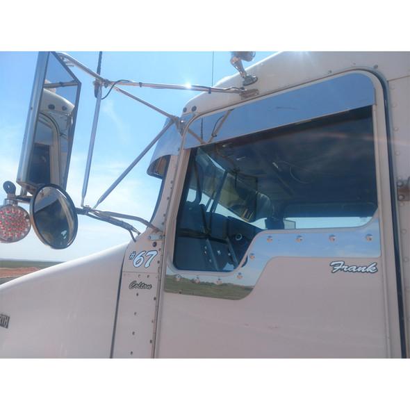"""Kenworth T600 T660 T800 W900 5"""" Chop Top Door Trim Stainless Steel"""