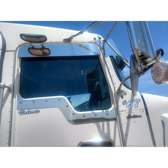 "Kenworth T600 T660 T800 W900 5"" Chop Top Door Trim Stainless Steel Side"