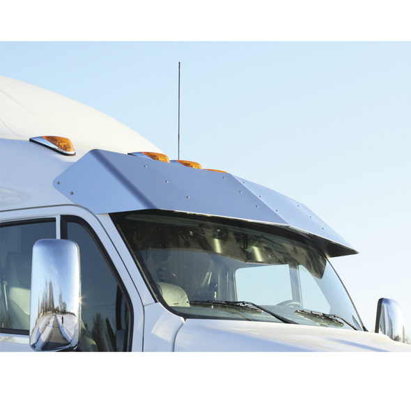 "Peterbilt 387 587 Sleeper Truck 20"" Drop Visor On White Truck"