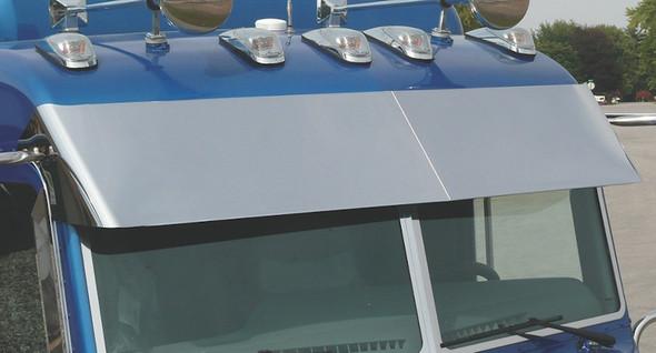 Peterbilt 379 384 386 388 389 Ultra Cab Visor With Cab Mounted Mirrors