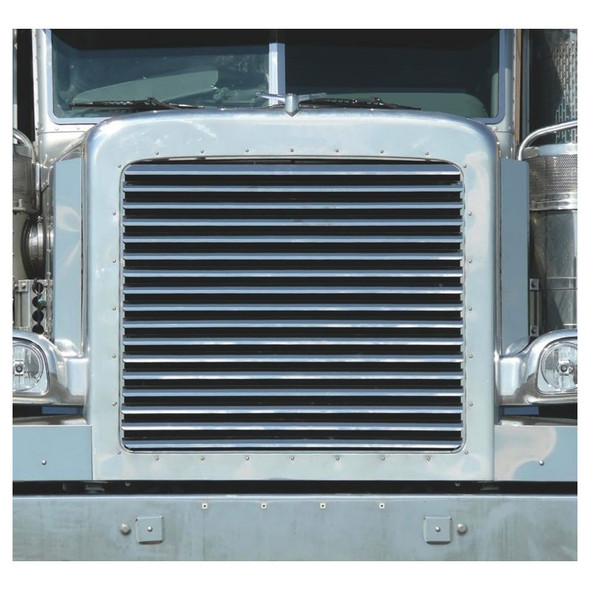 Peterbilt 388 389 Stainless Steel Grill With 17 Louver-Style Bars