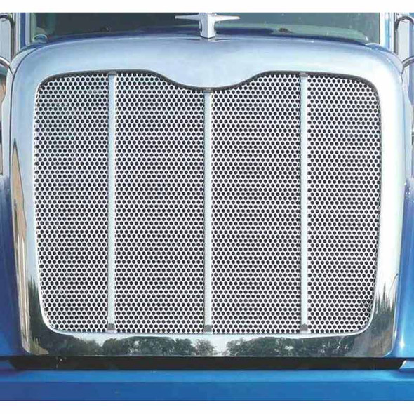 """Peterbilt 384 386 Punched Grill Insert With Small 1/4"""" Circles"""