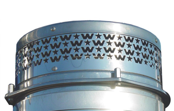 """Western Star Punched Breather Screen With W & Stars And 2"""" Shorter"""