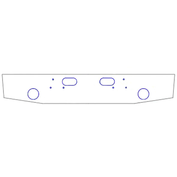 Ford Chrome Bumper For L Series Conventional By Valley Chrome - Light Holes & Tow Holes