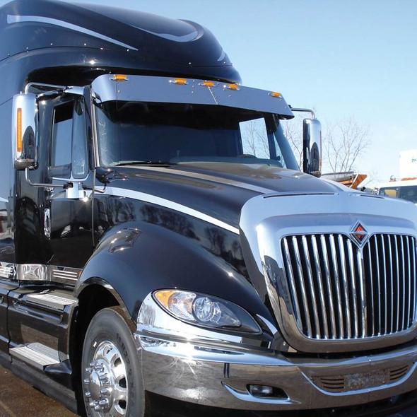 """International LoneStar 12.5"""" Gangster Drop Visor On Truck"""