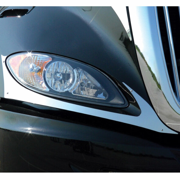 International ProStar Headlight Fender Guards On Truck