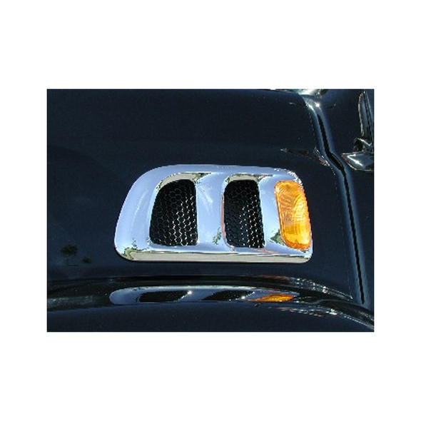 Sterling 9500 Chrome Grill Air Intake On Truck Blue