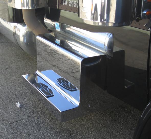 "Peterbilt 389 4"" Step Stainless Steel Monster Box Lid Cover"