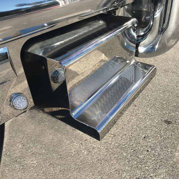 Peterbilt Battery or Tool Box Covers with Mirror Finish Front View
