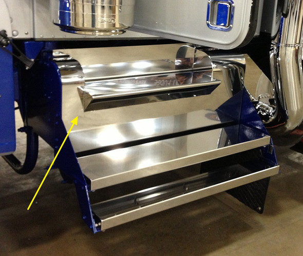Kenworth W900A Battery Tool Box Cover Lid Stainless Steel Finish