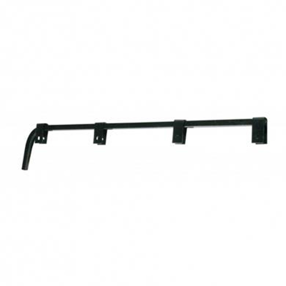 Black Straight Mud Flap Hanger - Default