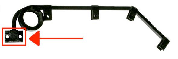 Standard Cast Mount For Mud Flap Hangers