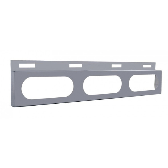 Stainless Top Mud Flap Light Bracket With 3 Oval Light Cutouts