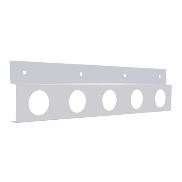 """Stainless Top Mud Flap Light Bracket With Five 2"""" Light Cutouts"""