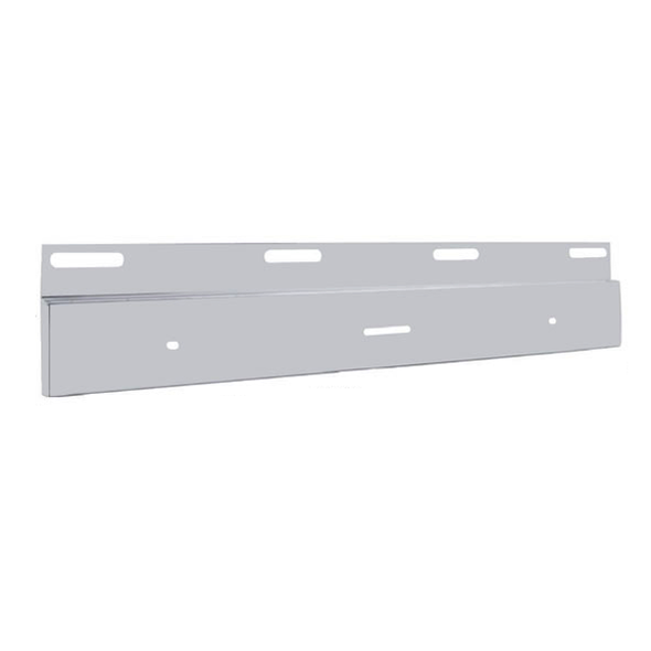 """Stainless Top Mud Flap Light Bracket With 17"""" Light Bar Cutout Angled"""