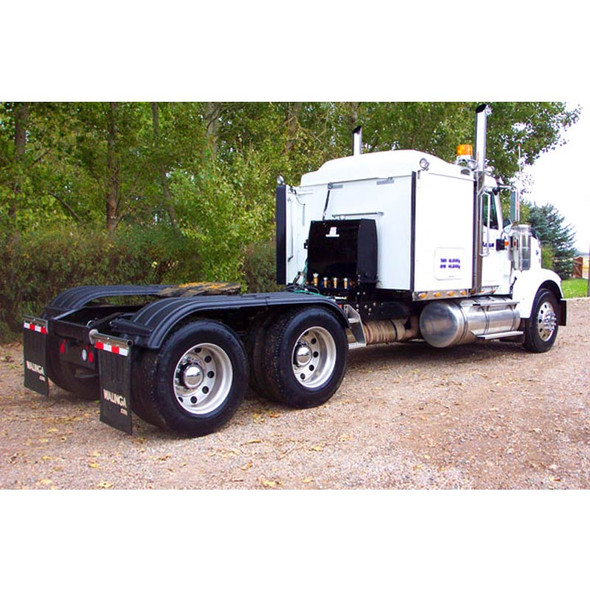Minimizer Poly Truck Fenders Tandem Axle Black The Work Horse 4000 Series (Installed)