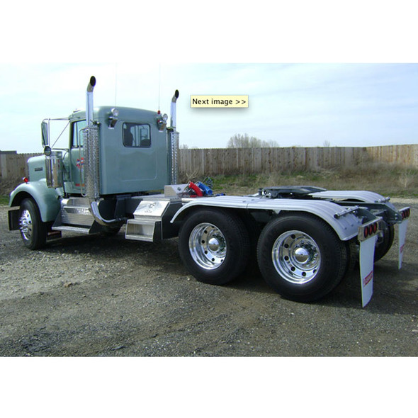 Minimizer Poly Truck Fenders Tandem Axle Galvanized Color The Work Horse 4000 Series (Installed)
