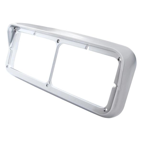 Rectangular Dual Headlight Bezel w/ Visor Side View