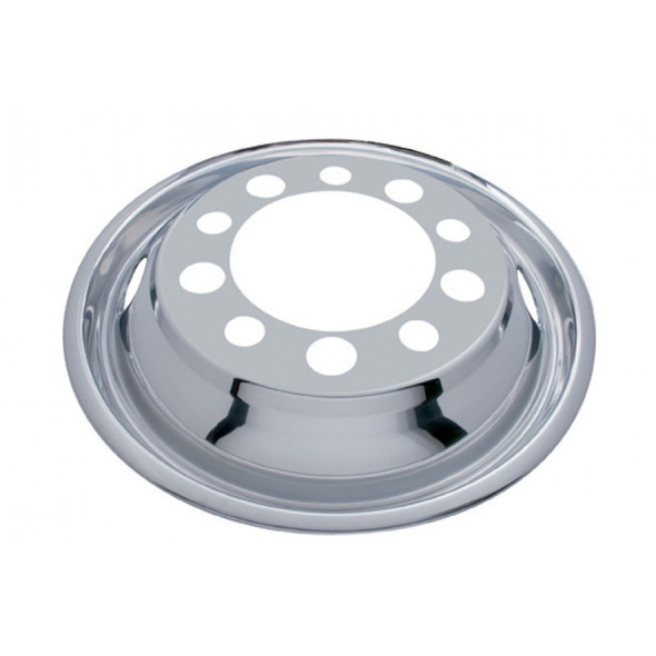 """Front Wheel Cover For 22.5"""" Stud Piloted Wheels With 1.5"""" Lug Nuts And 2 Hand Holes"""