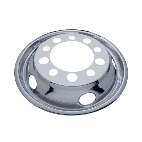 """Front Wheel Cover For 22.5"""" Stud Piloted Wheels With 1.5"""" Lug Nuts And 5 Hand Holes"""