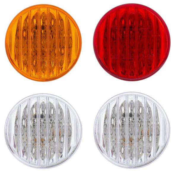 "9 LED 2"" Clearance Marker Light Flat - Off"