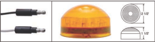 """2.5"""" Roadster Clearance Marker Light Amber And Red"""
