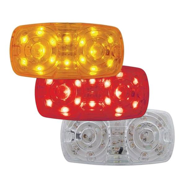 16 LED Rectangular Clearance Marker Light - On