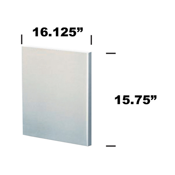 """Stainless Steel Refrigerator Door Cover 16.125"""" x 15.75"""""""