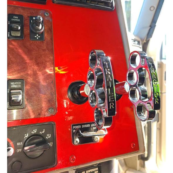 Chrome Brass Knuckles Air Valve Knob On Truck