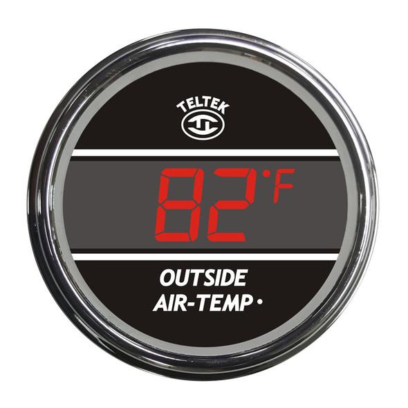 Outside Air Temperature Truck TELTEK Gauge - Red