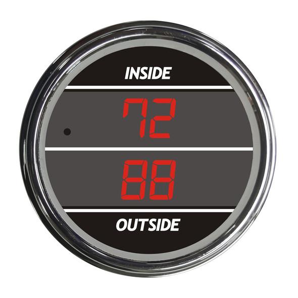 Truck Inside Outside Air Temperature TelTek Gauge - Red