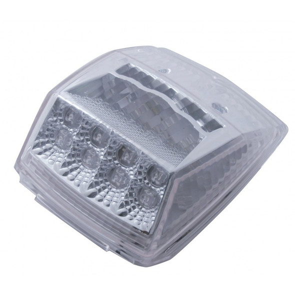 17 LED Square Cab Light With Reflector & Clear Lens