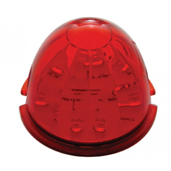 17 LED Cab Light With Watermelon Style Red Lens