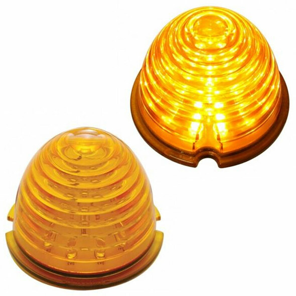 17 LED Beehive Style Cab Light Lens Amber Lens Amber LED