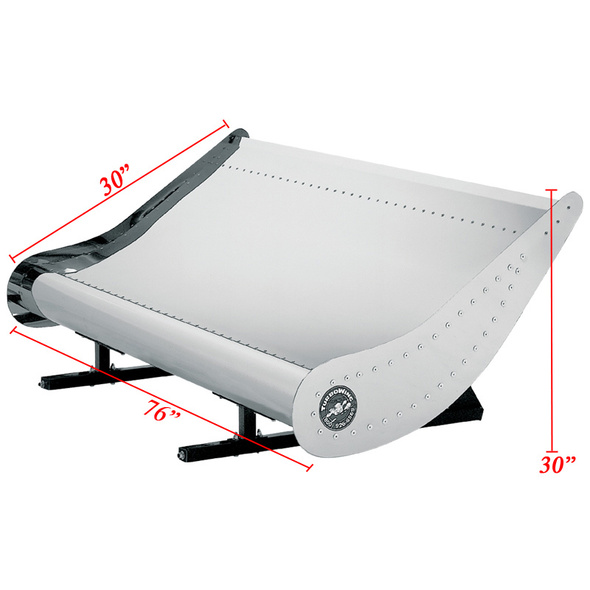 Kenworth Turbo Wing for Flat Top Sleepers Only - Dimensions