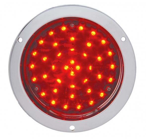 "40 LED 4"" Round STT And PTC Light - Deep Dish On"