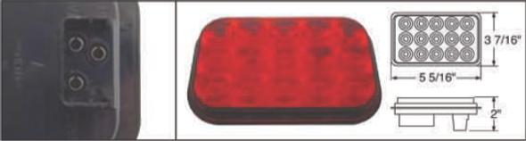 15 LED Rectangular STT And PTC Light