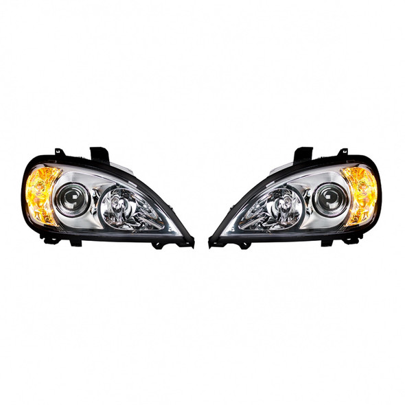 Freightliner Columbia Projection Headlights Pair Side Lights On