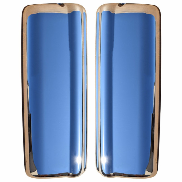 Volvo VNL 670 730 780 Chrome Mirror Covers Front View